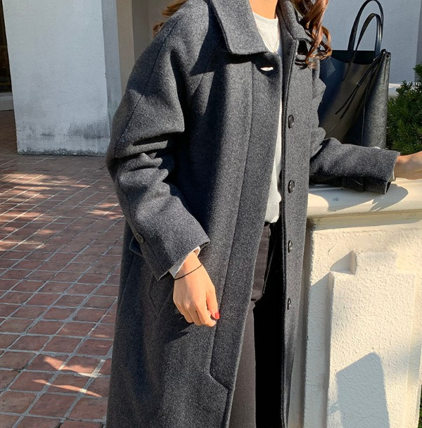 sainne coat (chacoal)