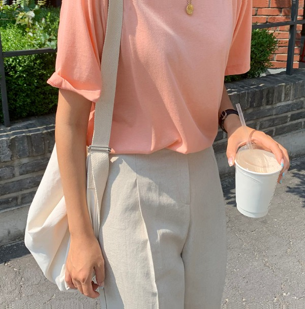 [MOODMADE♥] airly tee (peach) 2차 재입고