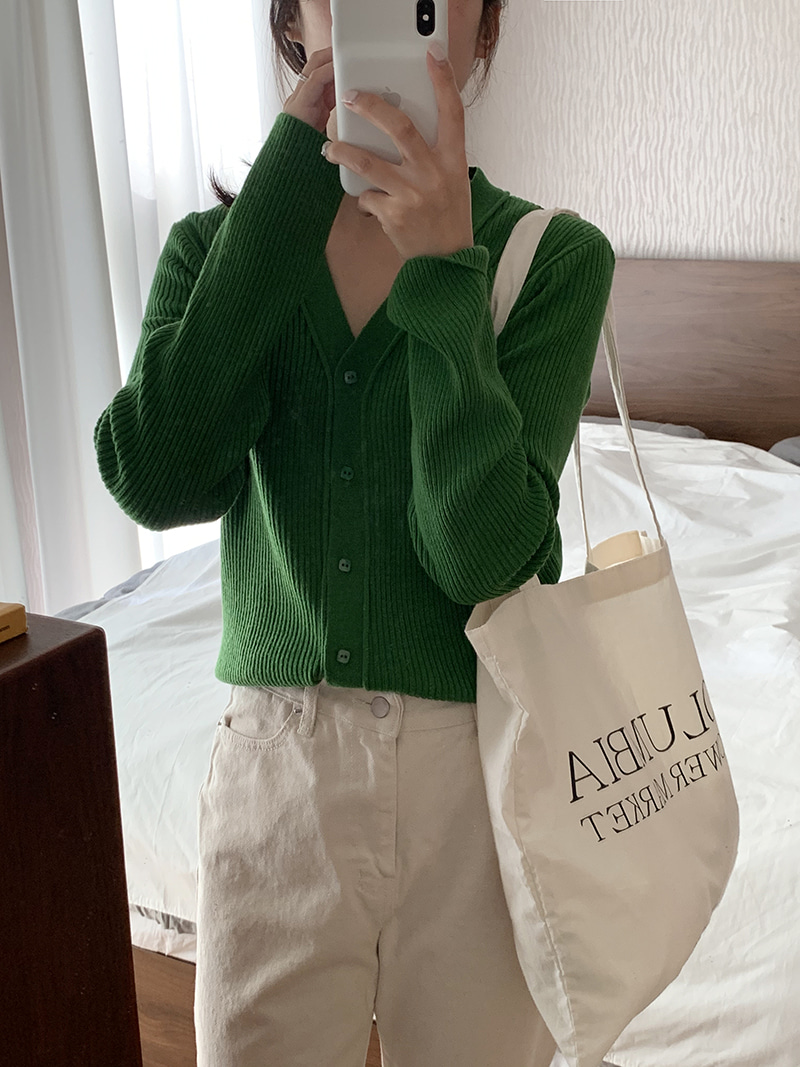 ink cardigan (green)