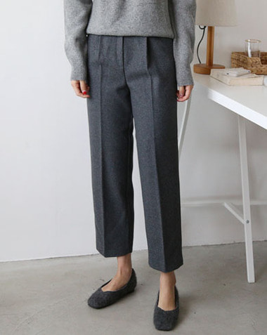 oat wool pants (gray/s)