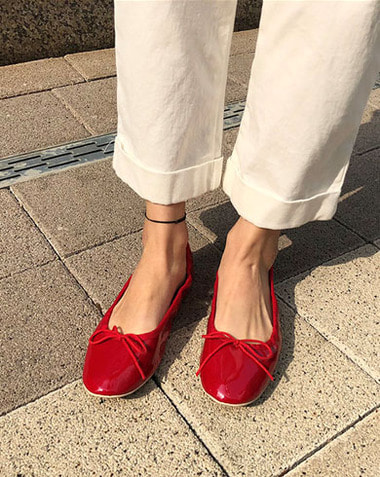 SUMMER SALE♥ / celli flat enamel.ver (red-235/white-240/mint-240)