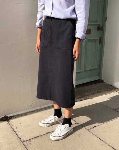 oxford skirt (2colors)