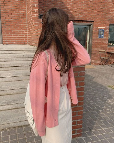 cereal cardigan (pink)