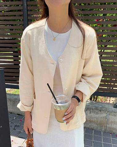 pure cardigan jacket (2colors)