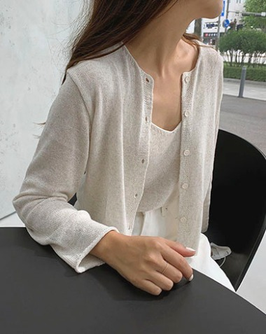 on knit cardigan (2colors)
