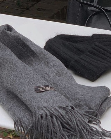 wool 100% muffler (3colors)