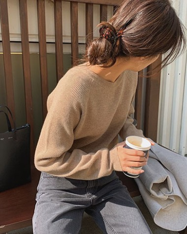 caramel knit (3colors)