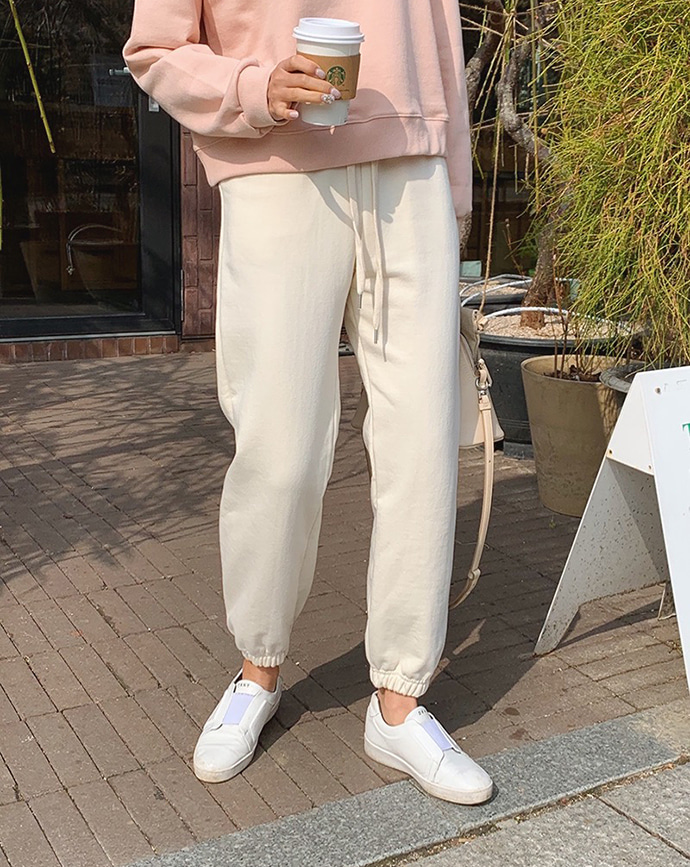 [mm.made♥] yecca jogger pants (cream) 2차 재입고